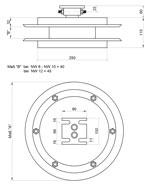 Maßskizze Trommel mit Doppelschlauch und Standard - Anbauflansch