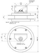 Maßskizze für Trommel mit Doppelschlauch und großem Anbauwinkel