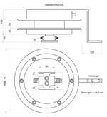 Maßskizze Hydraulik-Schlauchaufroller 3+5-fach